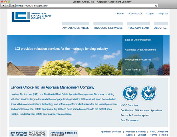 Lenders Choice Website