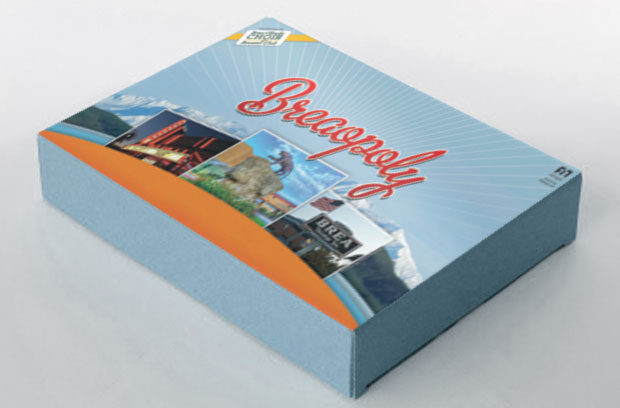 Breaopoly game board packaging