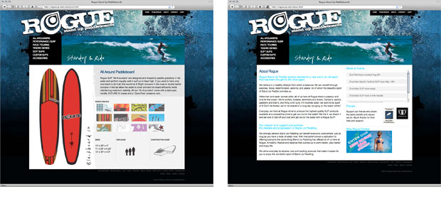 Rogue website design